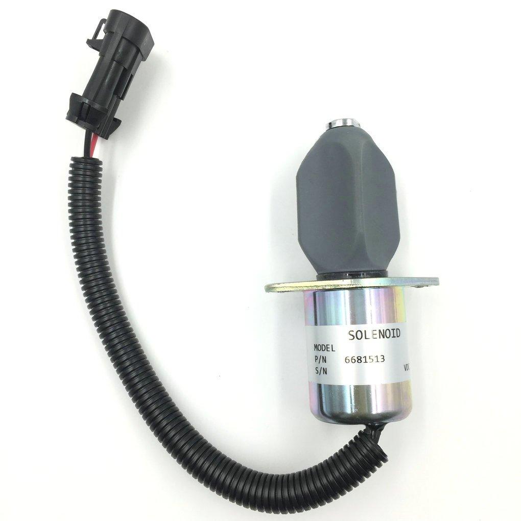 amazon com: fuel shut off solenoid 6681513 for kubota bobcat skid steer  s150 s160 s175 s185 t190 751: automotive