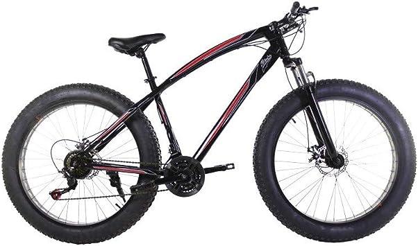 Riscko Bicicleta Fat Bike Todoterreno con Ruedas de 26x4 ...