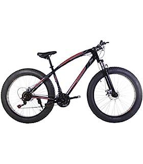 Riscko Bicicleta Fat Bike Todoterreno con Ruedas de 26x4 Pulgadas antipinchazos y Cambio Shimano