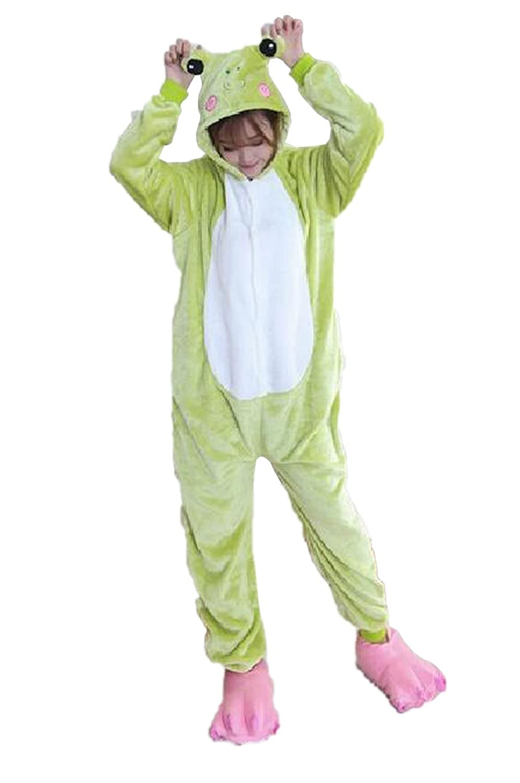 30efc6a4973a Amazon.com  vimans Womens Winter Sleeping Costume Green Frog Flannel ...
