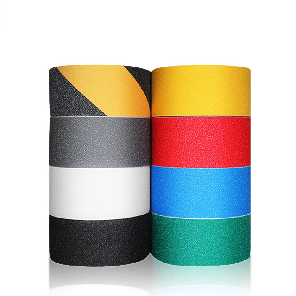 Zhi Jin 1Roll 5CM Safety High Grip Tape Adhesive Strong Backed Anti Slip Tapes Colors Gray