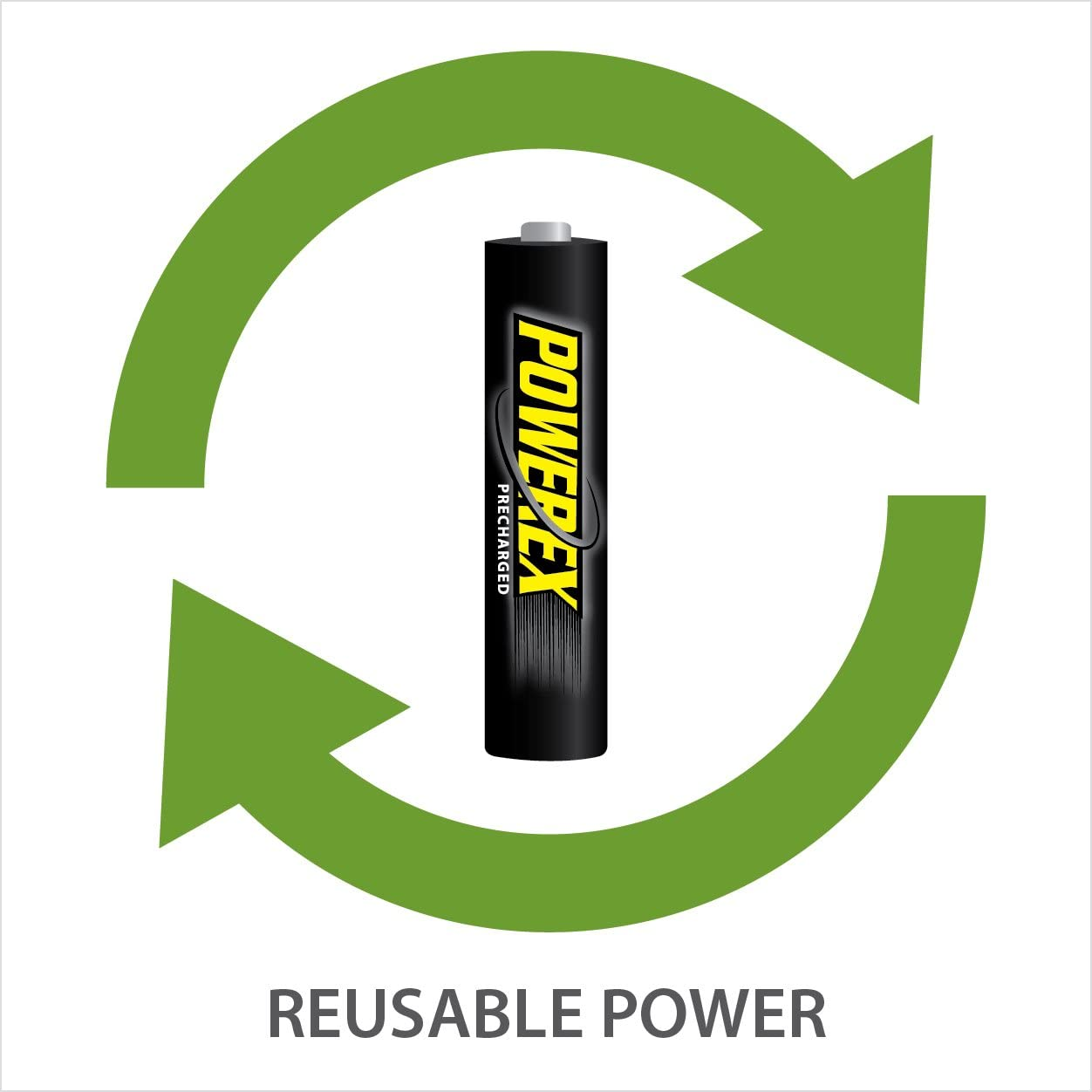 Powerex Low Self-Discharge Precharged D Rechargeable NiMH Batteries, MHRDP2