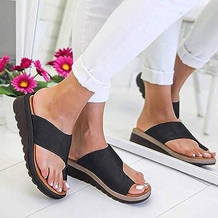 WSXZ 2019 Nuevas Mujeres Cómodas Sandalias Corrector De Juanetes Ortopédico para Mujeres Zapatos Ortopédicos de Corrección