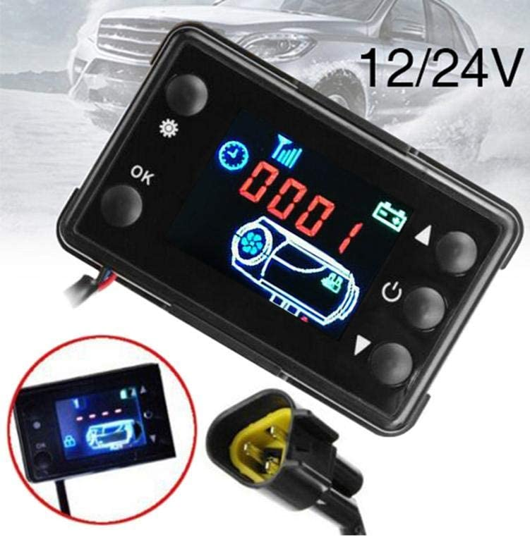 Thrivinger Heater LCD Monitor Switch And Remote Controller,With Control Button Function Fuel Filling Manual Mode//Ergonomically Timing Start Designed//Ideal For 12V 24V Parking Heaters