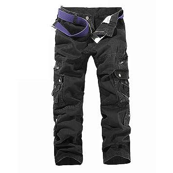 c012b247fb iBaste Yardas grandes pantalones de algodón ocasional al aire libre  Pantalones militar para hombre  Amazon.es  Deportes y aire libre