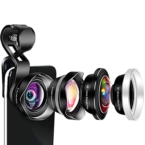 Amazon com: 15mm Wide Angle Lens, 105mm Macro Lens, 7 5mm Fisheye