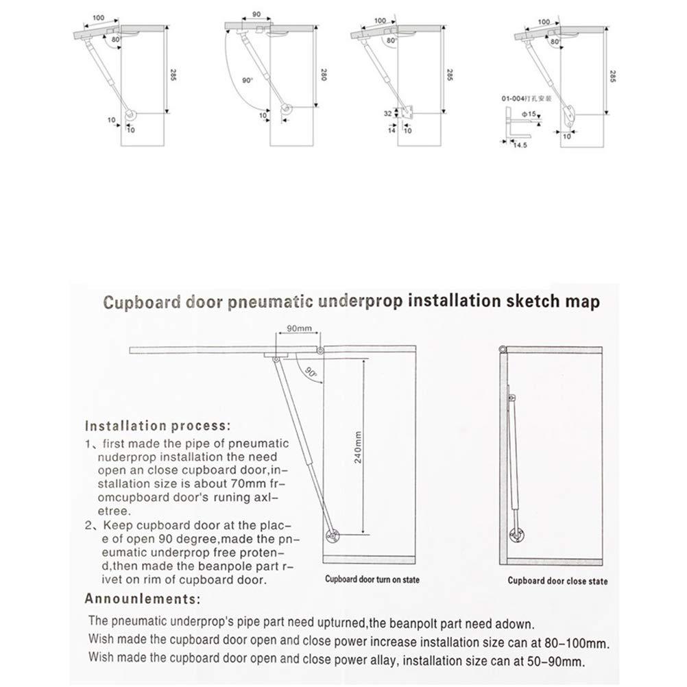 UKCOCO 2 PCS Heavy Duty 100N Hydraulique Gaz Strut Cabinet Armoire Porte Ressort /À Gaz Amortisseur Porte Pneumatique Support Dascenseur
