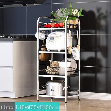 Estante de cocina de acero inoxidable con múltiples capas para ...