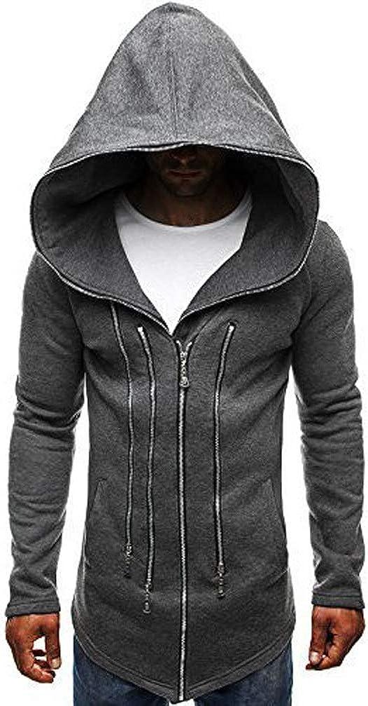 Qinni-shop Men Casual Assassins Hoodie Pullover Slim Fit Zipper Sweatshirt Sweater