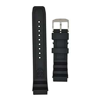 Luminox 8400 Strap Replacement Watch Band Black Silicone 22mm ... 39fe07105