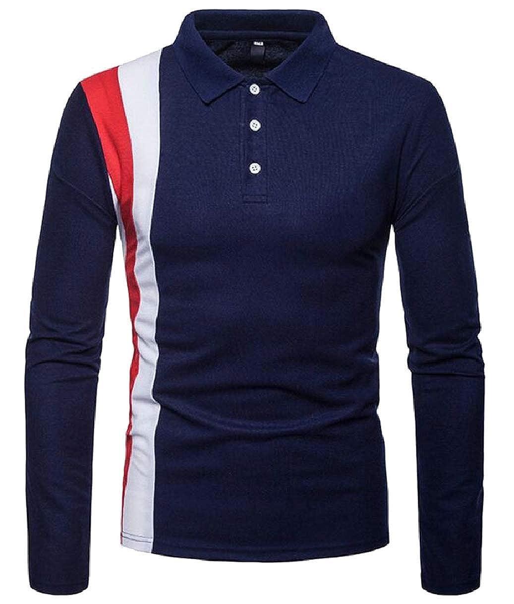 CBTLVSN Mens Polo Shirt Casual Long Sleeve Classic Fashion Sport Polo Shirt