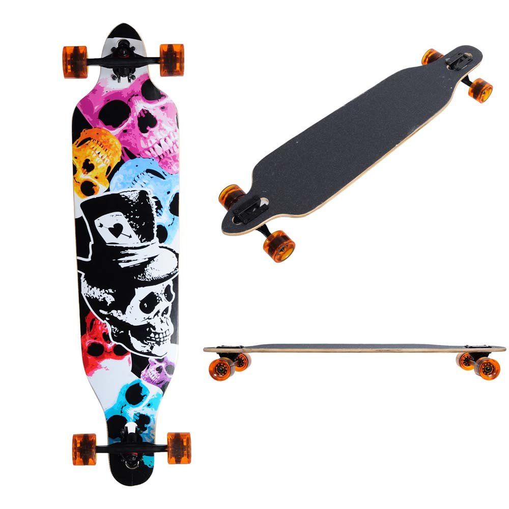AW Canadian maple Professional Longboard Complete 41x9.75 Cruiser Speed Skateboard Downhill Maple Fashion