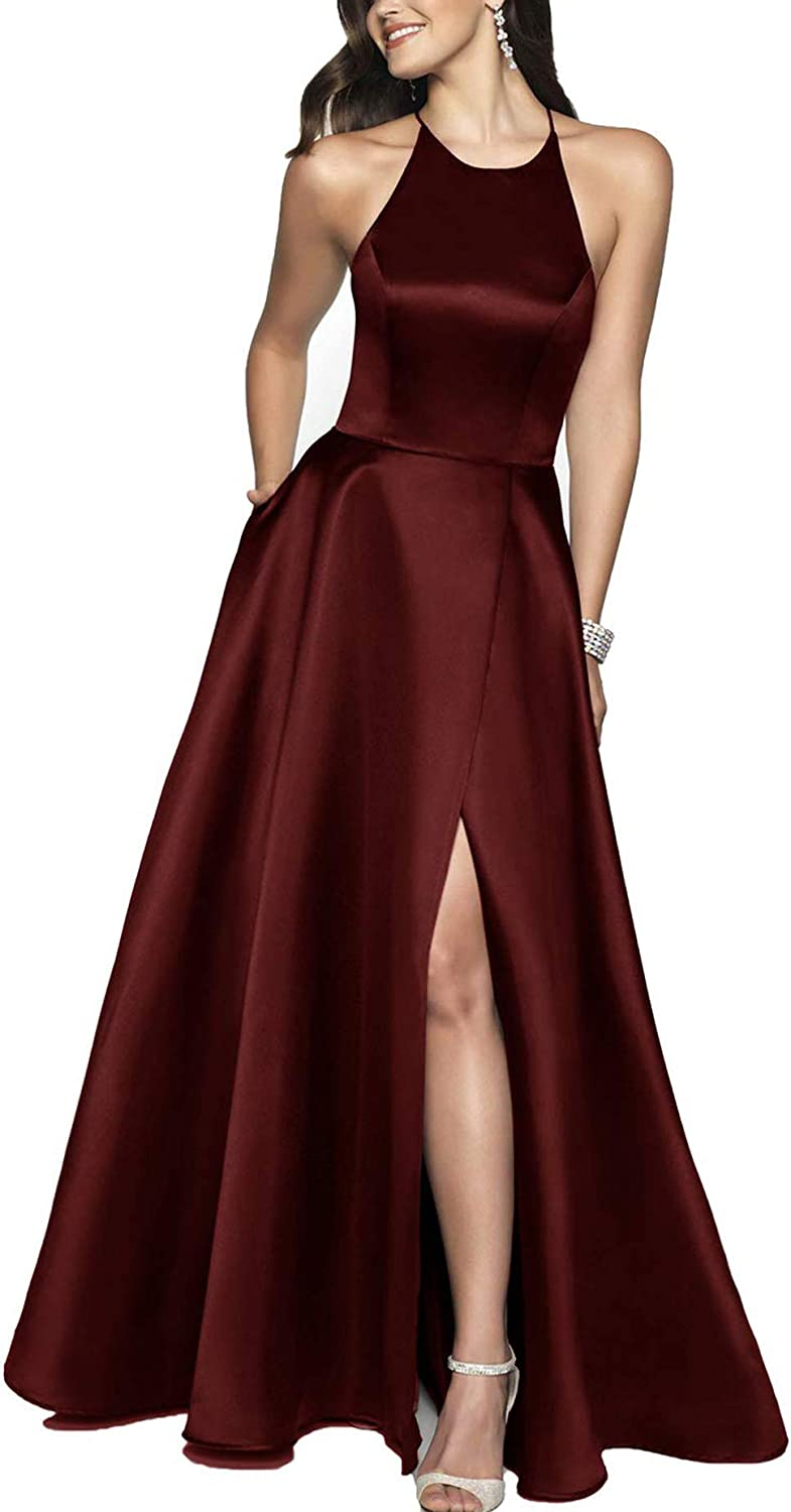 Miao Duo Women'S lange Split Prom Dress mit Pockets Party Gown mit Slit 105Pm