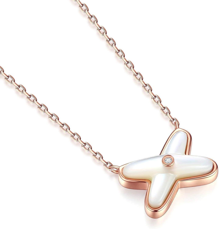 MMC Silver Pendants Vintage Blue Opal Heart Cross Necklaces for Womens
