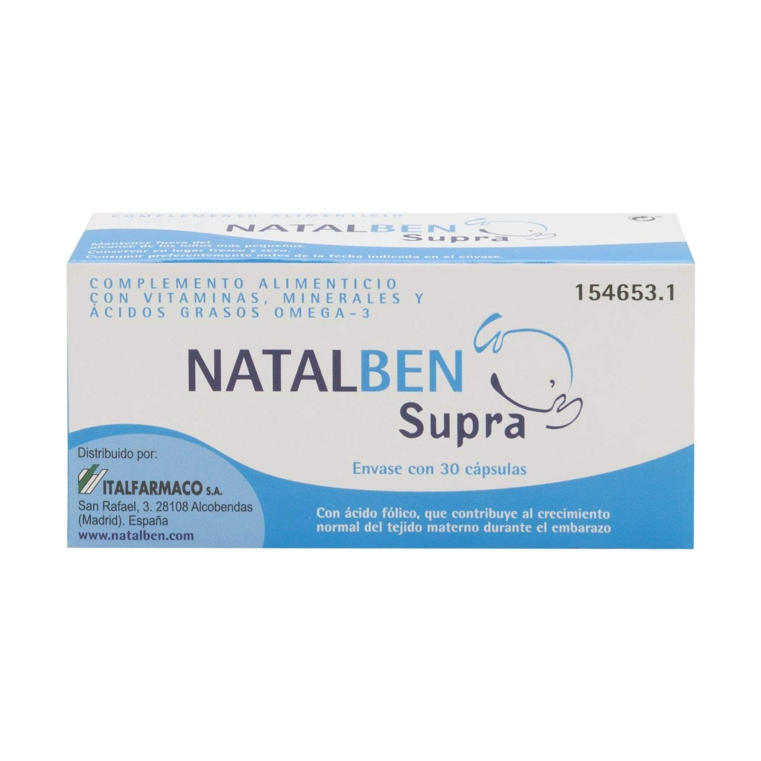 Amazon.com: Natalben Supra 30 caps. - Food Supplement - Post Natal Supplement - Vitamins and Minerals: Health & Personal Care