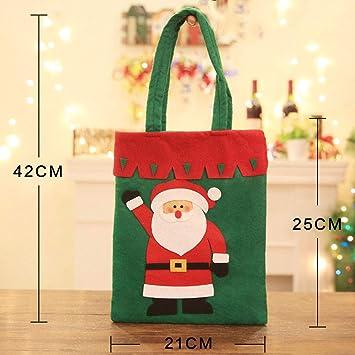 JUNMAONO Christmas Decoración, Bolsas De Regalo, Bolsa De Dulces, Navidad Decoraciones, Adornos Navideños (1): Amazon.es: Hogar