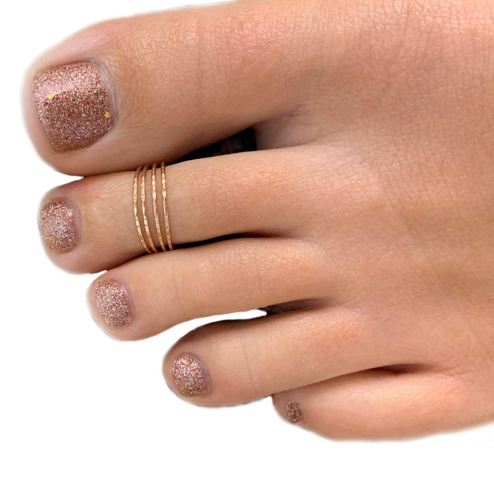 Toe Ring | Four Strand Gold Fill Adjustable Toe Ring | Attire for Your Toes | Made in USA