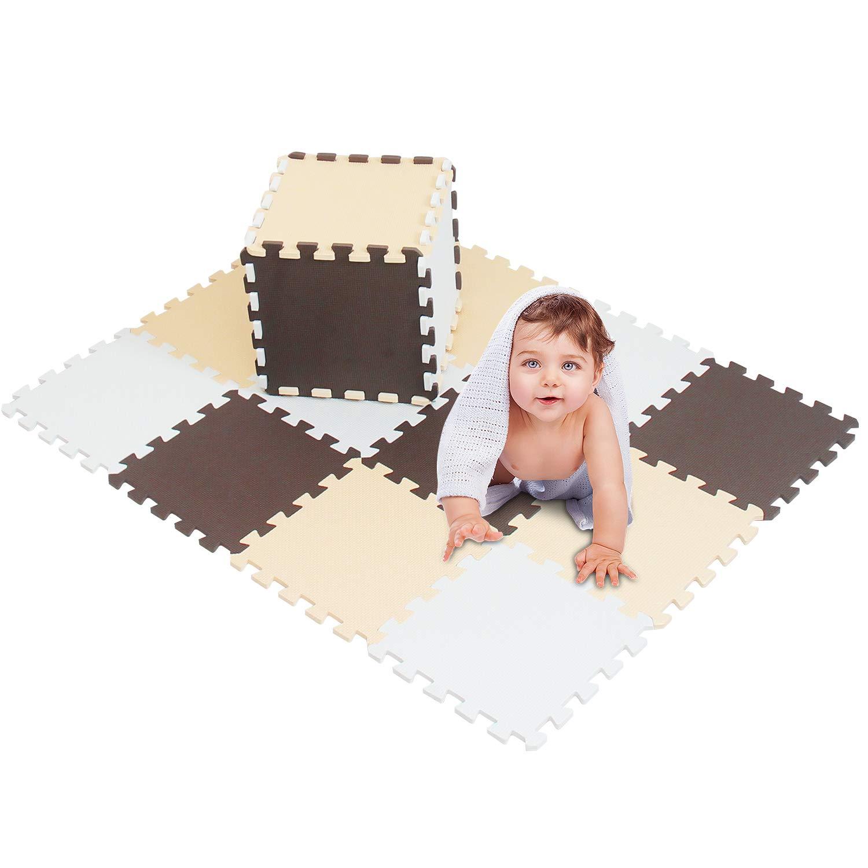 Tappetino da Gioco meiqicool -Tappetino Puzzle per Bambini in gommapiuma Eva Puzzle per Bambini in gommapiuma,Dimensioni 142 x114 x 1cm Puzzle Tappeto