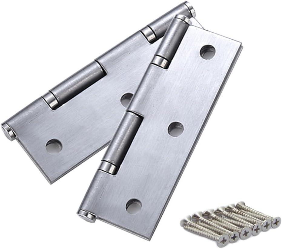 2inch 50x36x1.4mm LOVIVER 2St/ü Edelstahl T/ürb/änder Scharniere T/ürscharnier M/öbelscharniere Mit Schrauben