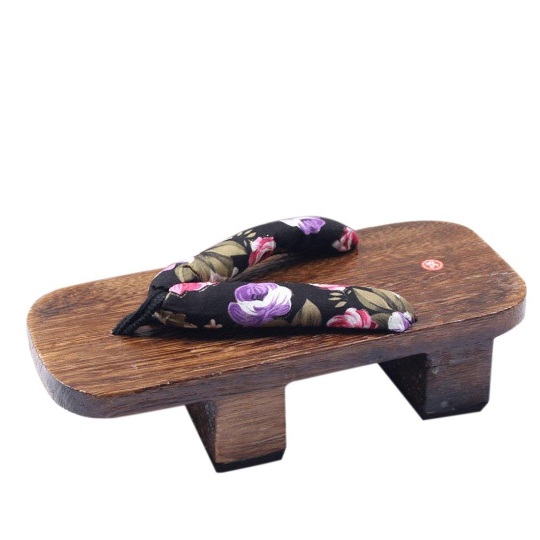 Jiyaru Women's Japanese Style Wood Geta Sandal High Heel Clog Flip Flop #3 US7 by Jiyaru