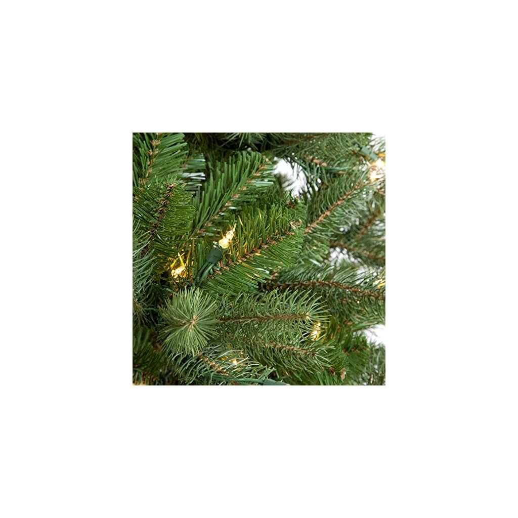 National-Tree-PEDD1-312-100-Feel-Real-Downswept-Douglas-Hinged-Tree-with-1000-Clear-Lights
