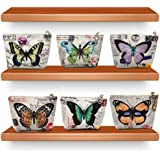 SUPRIQLO 1PC Women Retro Zipper Small Wallet Butterfly Print Purse Card Holder Clutch Coin Purses & Pouches