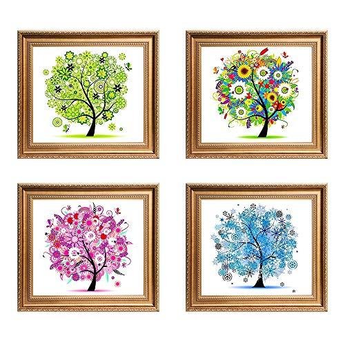 (Kisstaker Diamond Painting,5D Four Seasons Tree DIY Diamond Handmade Panting Home Room Decor (Four Season) )