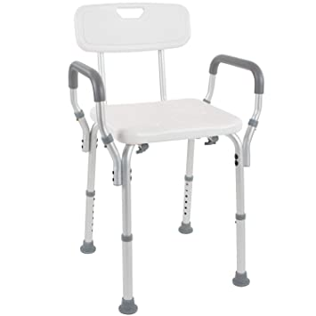 Sensational Vive Shower Chair With Back Handicap Bathtub Bench With Padded Armrest For Disabled Seniors Elderly Adjustable Medical Bath Stool Spa Seat With Caraccident5 Cool Chair Designs And Ideas Caraccident5Info