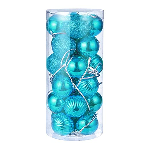 Bestow Árbol de Navidad decoración Bola Bola chuchería Colgante casa Partido Ornamento decoración (tamaño Libre, Azul): Amazon.es: Ropa y accesorios