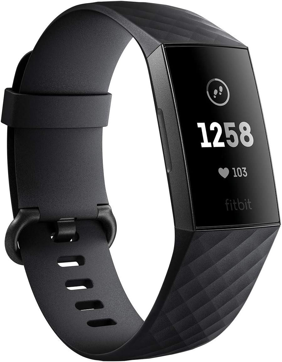 Fitbit Charge3 フィットネストラッカー Black/Graphite L/Sサイズ FB410GMBK-CJK