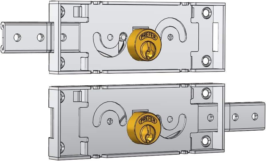 Cerraduras laterales accoppiate para persiana Art. a711.0 una conducción, Cilindro de latón.Incluye dos llaves. Acabado galvanizado. Caja mm 155 x 55.: Amazon.es: Bricolaje y herramientas