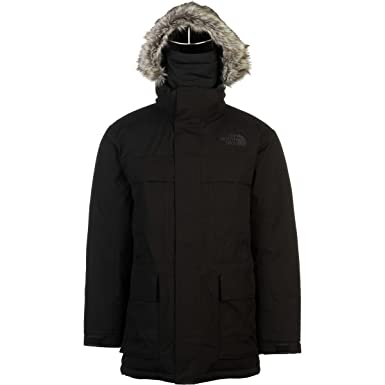 The North Face Mens Solid Faux Fur Trim Parka at Amazon Men's