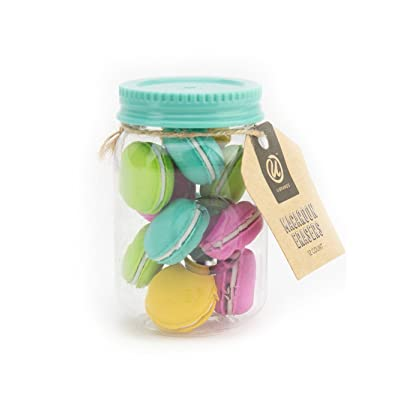 U Brands 12-Count Novelty Food Eraser (Macaroons): Office Products