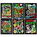 Stuff2Color クリスマス塗り絵のシーン - ファジーポスター 6パック (未着色)