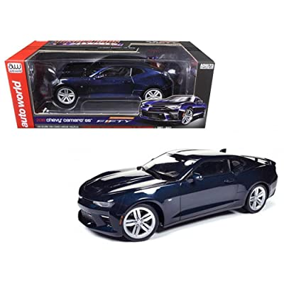 Autoworld AW239 2016 Chevrolet Camaro SS Blue Velvet Metallic Celebrating 50th Anniversary Limited Edition to 1002pcs 1/18 Diecast Model Car: Ertl American Muscle: Toys & Games