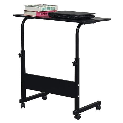 Amazon.com: Mesa ajustable de bambú para portátil, para cama ...