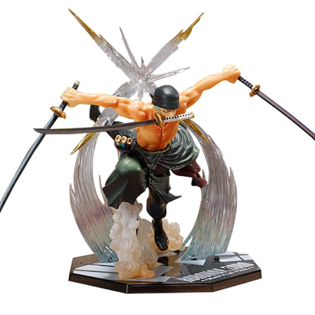 KGMYGS One Piece Pirates Nautical Modell Modell Modell DREI Messer Sauron Puppe Modell Statue 17cm Anime Dekoration ce1554