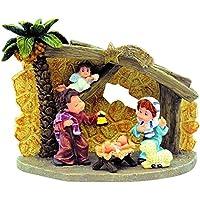 Nadal - Portal de Belén con palmera tamaño