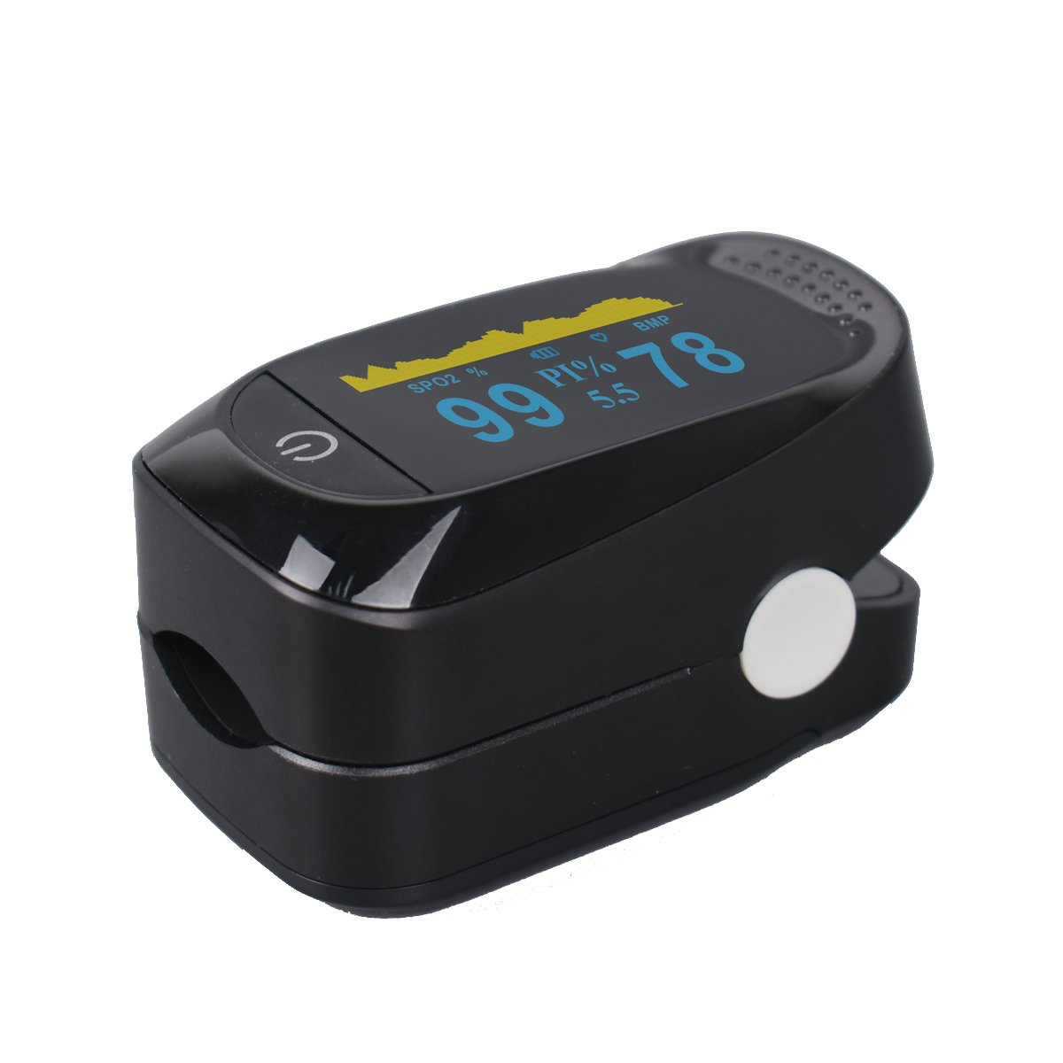 Fingertip Pulse Oximeter with Plethysmograph and Perfusion Index Measures SPO2 Finger Blood Oxygen Saturation Monitor, Perfusion Index, Pulse Rate,Mini Portable Size for Children,Adults by Glorified Mary (Image #6)
