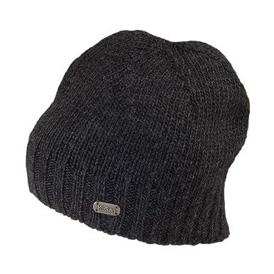 c8de1e255bd6ce Kusan Hats Merino Fisherman Beanie Hat - Charcoal 1-Size: Amazon.co.uk:  Clothing