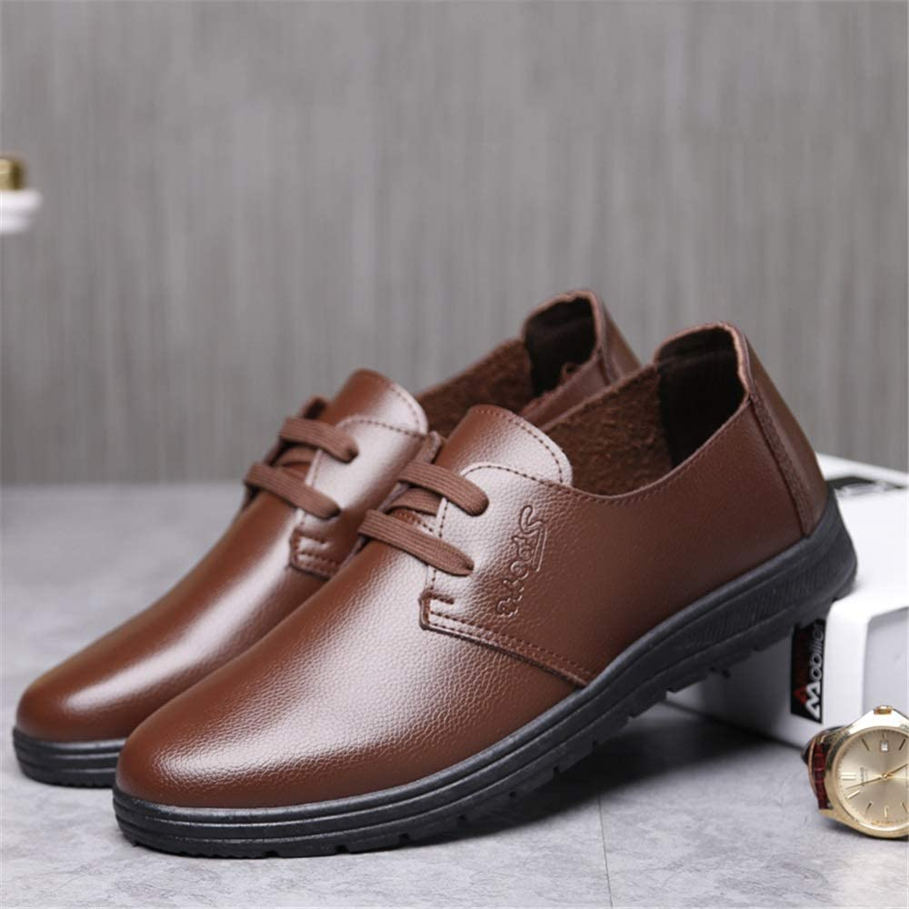Elegdy Mens Fashion Oxford Casual Comfortable Simple Light Pure Color Round Toe Formal Shoes Dress Shoes
