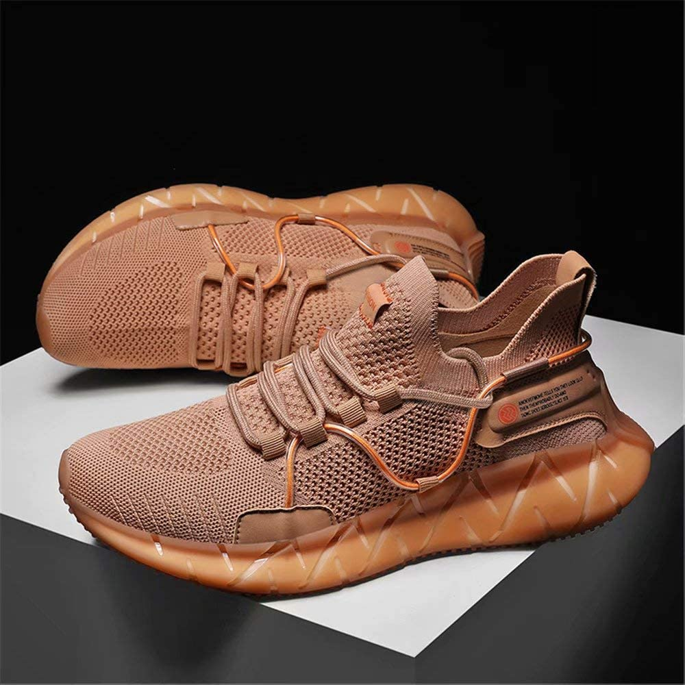 FUSHITON Herren Sportschuhe Laufschuhe Mode Sneakers Freizeitschuhe Outdoor Straßen Traillauf Fitnessschuhe rutschfeste Schuhe Braun