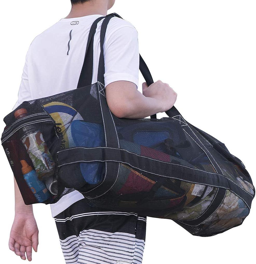 Deacroy Mesh Duffle Bag,Multi-Purpose Diving Snorkel Bag,Foldable Scuba Gear Beach Bag,Extra Large Travel Tote for Scuba Snorkeling Surfing Swiming Beach