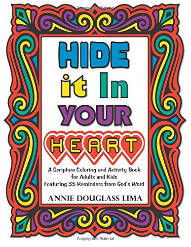 Hide Your Heart Scripture Coloring product image