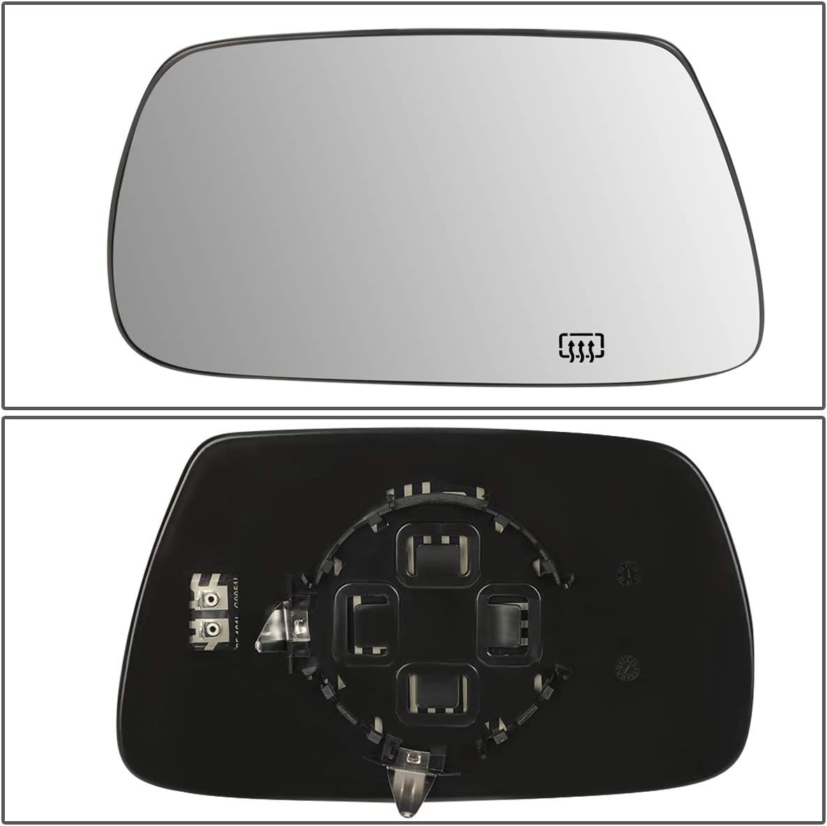 DNA Motoring OEM-MG-0063 5142875AA Factory Style Left Side Mirror Glass w//Heated,Silver