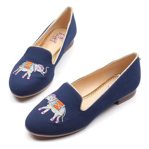 C. Wonder Time - Mocasines para Mujer Azul Azul Marino: Amazon.es: Zapatos y complementos
