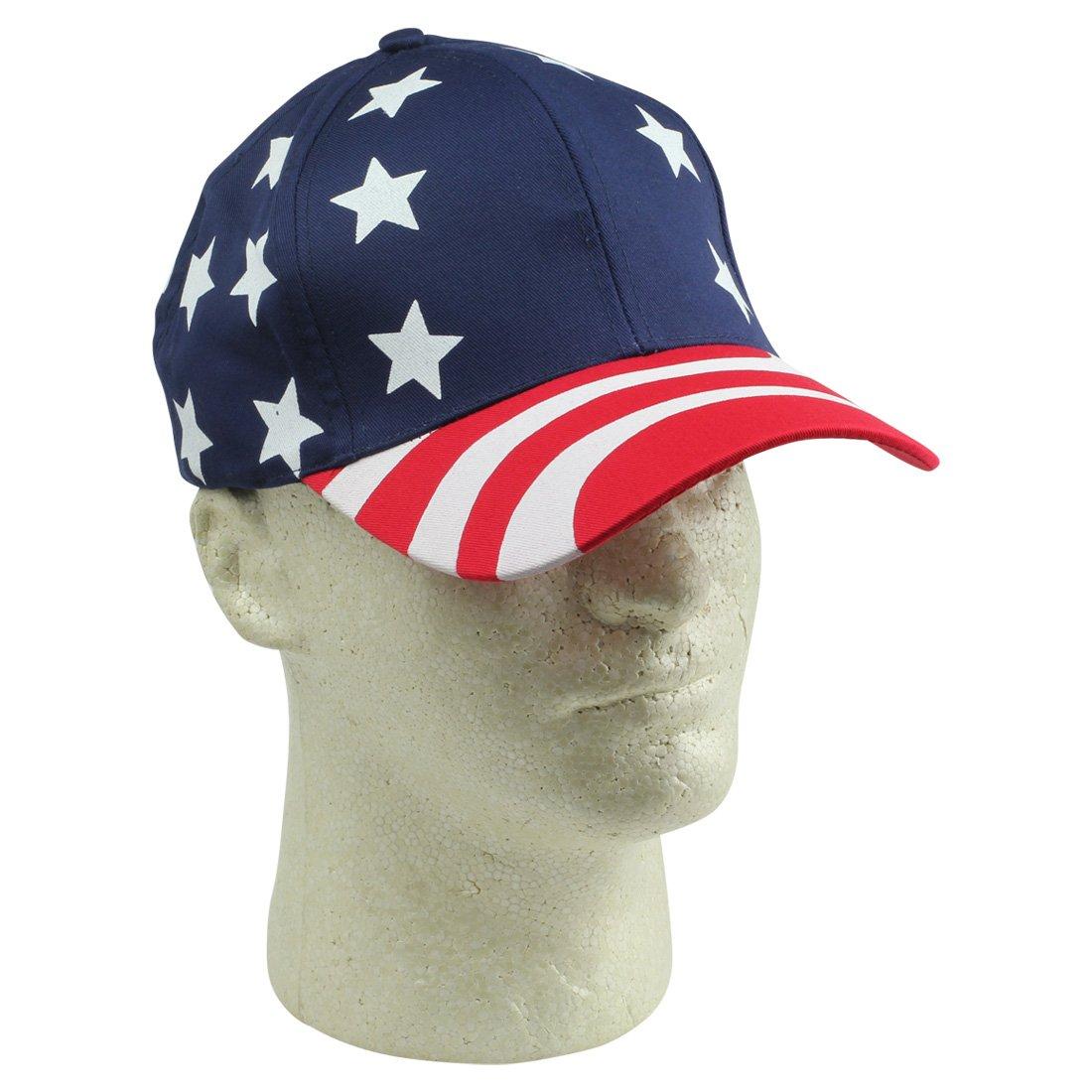 173a56e3f967 Amazon.com  DALIX Hat Pro-Style USA Stars and Stripes Cap American  Patriotic Caps  Clothing