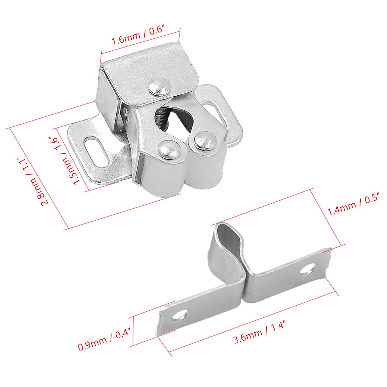 Placards cococity Lot de 6 Ferme-portes Armoire et Plus Loqueteaux Fermetures Loquets pour Portes Tiroirs