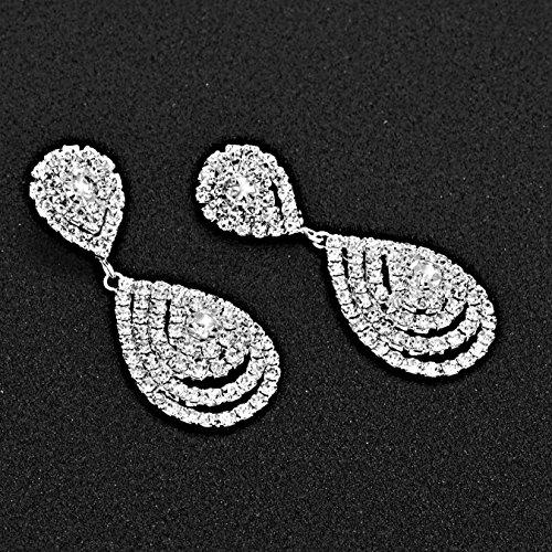 Yumei Jewelry Rhinestone Bracelet Silver-tone Wedding Bridal Bracelet Crystal Bracelet
