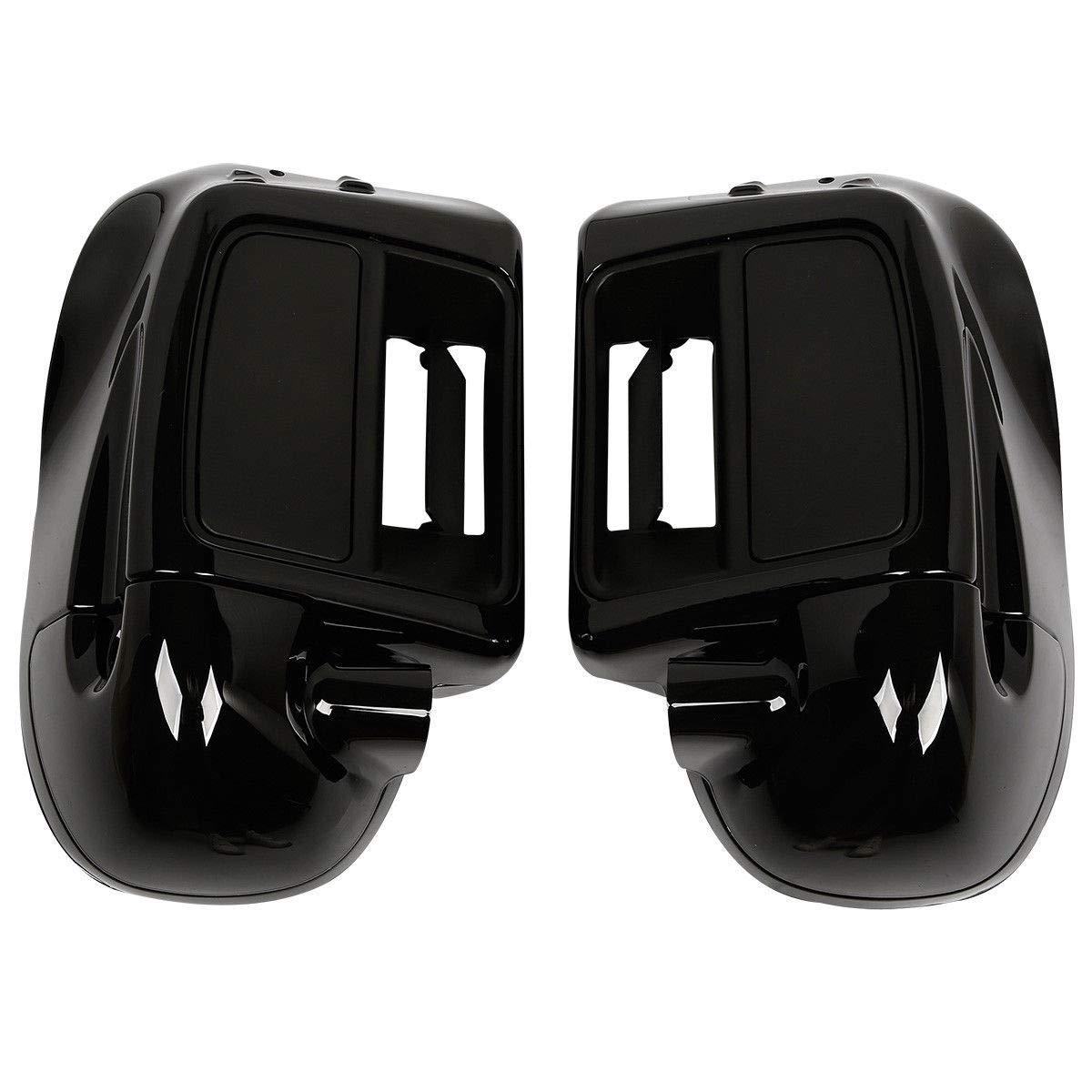 TCT-MT 6.5 Speaker Box Lower Vented Fairing For Harley Touring Road King Electra Street Glide FLHX 2014-2018 Vivid Black
